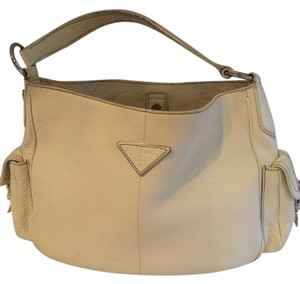 Prada Off Leather Shoulder Bag