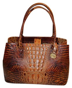 Brahmin Leather Tote in Brown