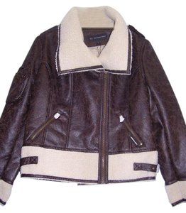 Members Only Faux Leather Jacket Coat
