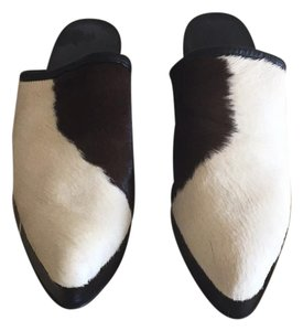 Other Vintage Calfskin brown/ white Mules