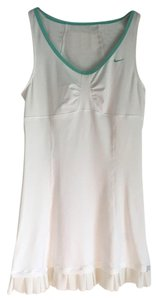 Nike White tennis dress with mint green trim