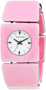 Vestal Vestal Women's Rosewood Stainless Steel Watch Pink Wood Bracelet