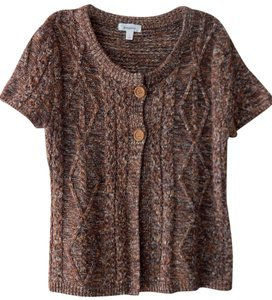 Dress Barn Cable-knit Marled Silk Cardigan