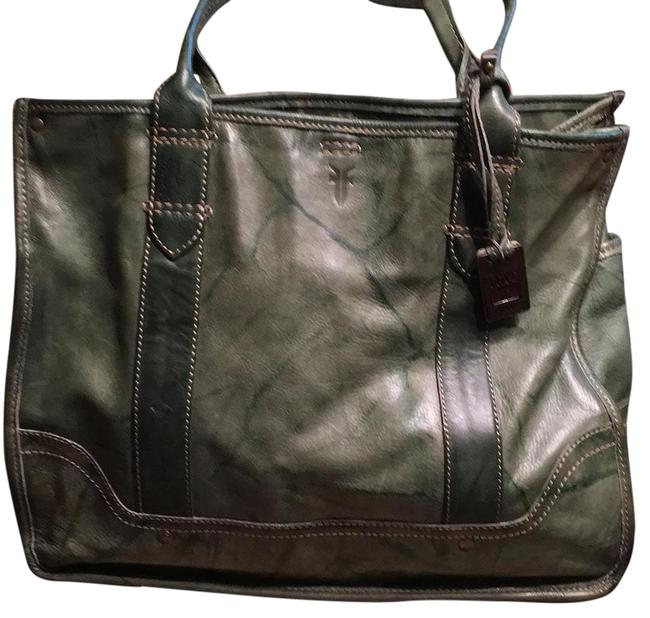 Item - Campus Shopper Green Leather Tote