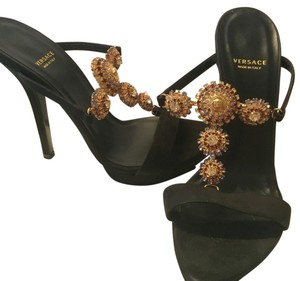 Versace Black with golden embellishment Platforms