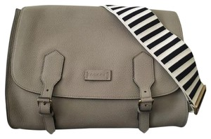 Gucci Cruise Striped Nautical Taupe Messenger Bag