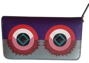 Fendi Fendi Crayons Monster Eyes Zip Continental Wallet