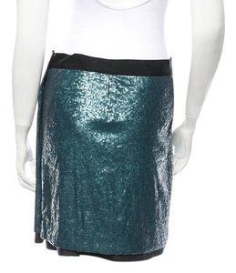 Robert Rodriguez Sequin Mini Mini Skirt Blue