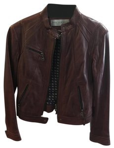 Marc New York Leather Moto Oxblood merlot Leather Jacket