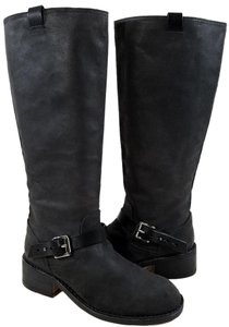 Rag & Bone Knee High Buckle-strap Black Boots