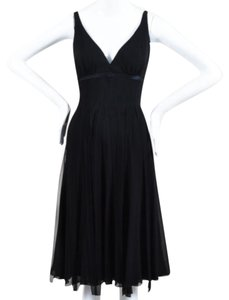 Carmen Marc Valvo Cocktail Fringe Dress