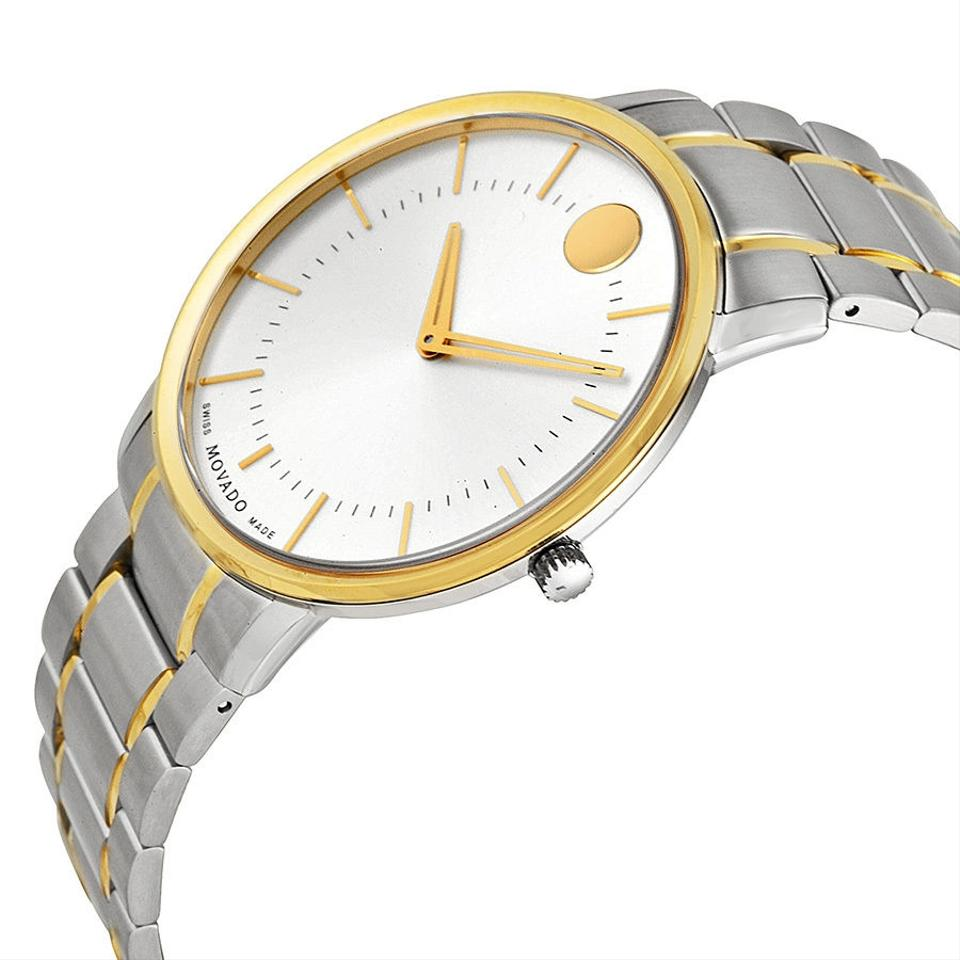 two tone silver and gold stainless steel designer mens watch movado two tone silver and gold stainless steel designer mens watch