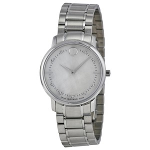 Movado Mother of Pearl and Diamond Markers Ladies Designer Dress Watch