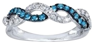 Jared 1/2ct. Blue & White Diamond Ring Round-Cut 14K White Gold
