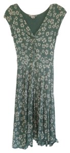 Boden short dress Green with ivory flowers Floral on Tradesy