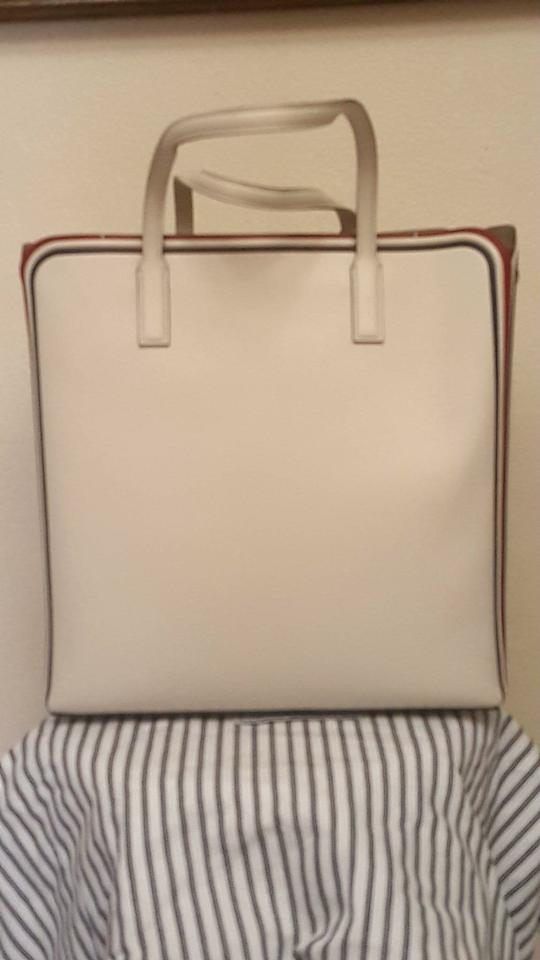 29119a046f255 Anya Hindmarch Ebury Featherweight with Long Strap Smiley Chalk Leather  Tote - Tradesy