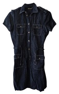 Max Studio short dress Dark Blue Denim Shirt Navy on Tradesy