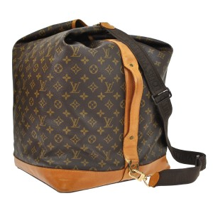 Louis Vuitton Sac Marine Duffle Keepall Monogram Travel Bag