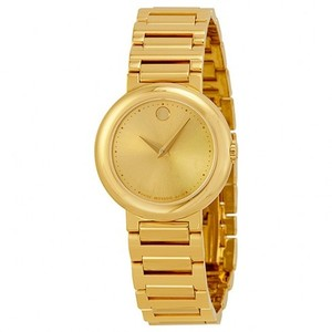 Movado Gold tone Stainless Steel Designer Ladies Casual Dress Watch