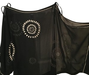 Free People Top Black and cream