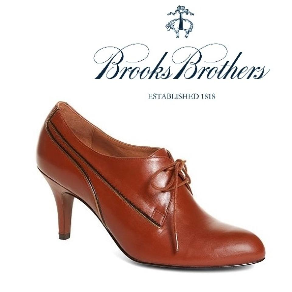 Brooks Brothers Trim Brown [ Price Reduced ] Calfskin Trim Brothers Ankle Cognac Boots/Booties 15e5e5