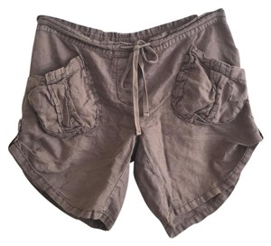 Free People Cuffed Shorts Taupe