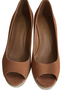 Coach Nude/mule/ light brown Wedges