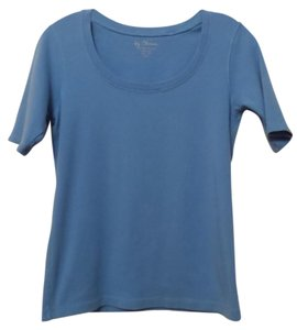 Chico's Knit Scoop Neck Top Powder Blue