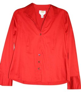 Talbots Ladies Dress Button Down Shirt red