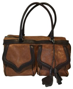 Gambini Made In Italy Satchel in brown