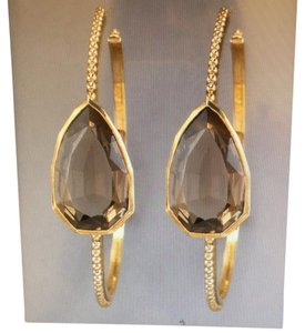 Stephen Dweck Stephen Dweck smoky quartz hoop earrings