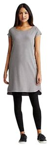 Eileen Fisher short dress PEWTER Ballet Layering Organic Cotton Cap Sleeve on Tradesy