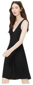 Ann Taylor LOFT short dress Black Crisscross Strap Cut Out on Tradesy
