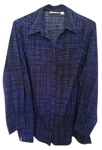 Croft & Barrow Button Down Shirt Blue/Black