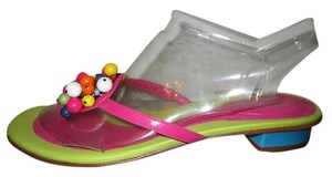 Ramon Tenza Leather Thong Beaded lime, pink & blue multi Sandals