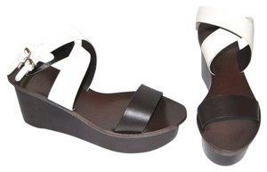 Tory Burch White brown Wedges