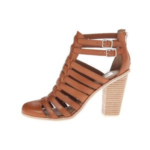 Dolce Vita Leather Chunky Strappy Cognac Boots