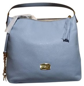Michael Kors Vanilla Bedford Large Leather Tote in Pale Blue