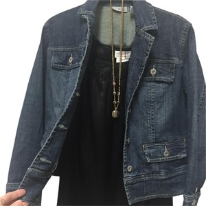 Chico's Platinum Trendy Denim Womens Jean Jacket