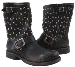 Frye Style #76346 Hammered Studs Black Boots