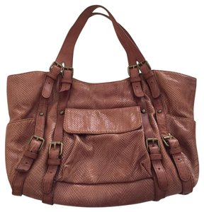 Kooba Tote in Peachy Rust Brown