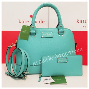 Kate Spade Rose Gold Matching Set Satchel in Blue
