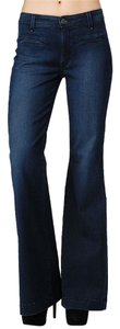 Rich & Skinny Trouser/Wide Leg Jeans-Dark Rinse