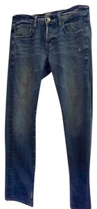 AG Adriano Goldschmied Men's Denim Distressed Straight Leg Jeans-Light Wash