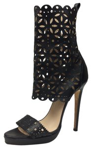 Oscar de la Renta Leather Heel black Sandals
