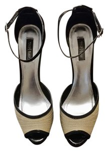 White House | Black Market Beige and Black Sandals