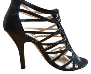 Isola Cage Heel Strappy Sandals Leather black Pumps