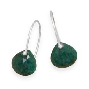 MMA Silver Stars Sterling Silver Emerald Earrings