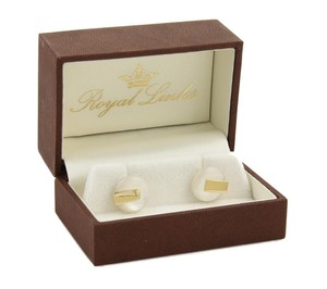 Royal Links Royal Links Mother of Pearl 18k Yellow Gold Cufflinks