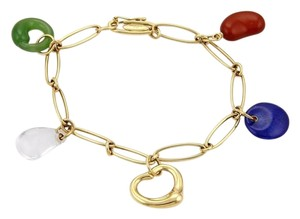 Tiffany & Co. Tiffany & Co. Peretti 18k Yellow Gold Gemstone Charm Bracelet